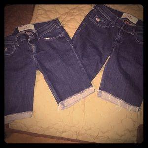 2 Hollister shorts size 3. Bag#112